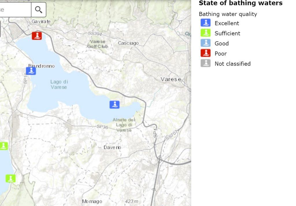le acque balneabili del Lago di Varese